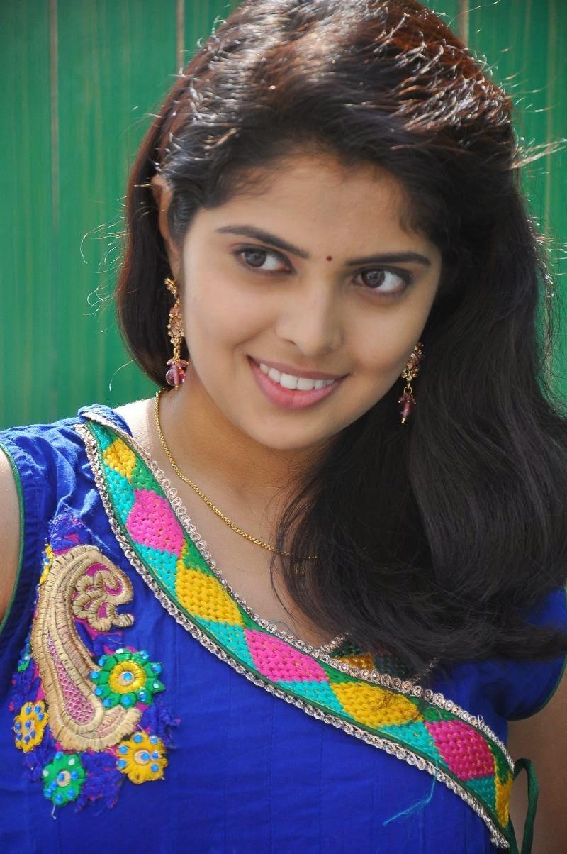 Actress Shravya Photos in Blue Dress - CAP