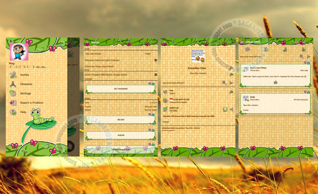 download BBM Mod Thema Ulat Versi 2.12.0.9 Apk Terbaru