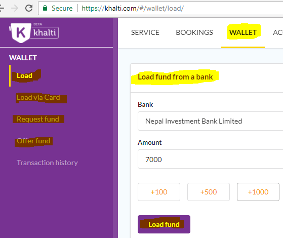 Create and Verify Khalti account-- load fund.