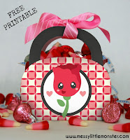 Rose valentine gift bag free printable