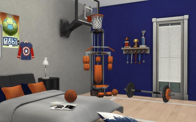 sport bedroom sims 4