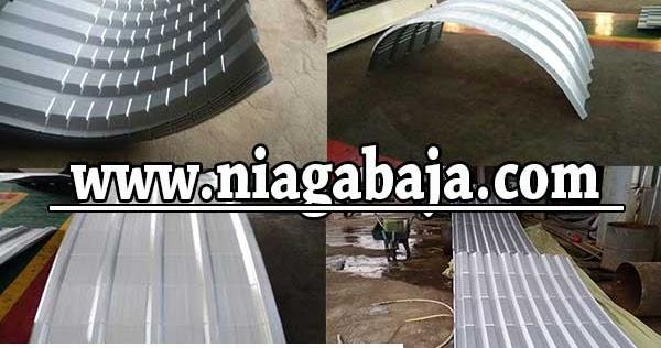 baja ringan lengkung harga atap spandek zincalume 2019 | niaga