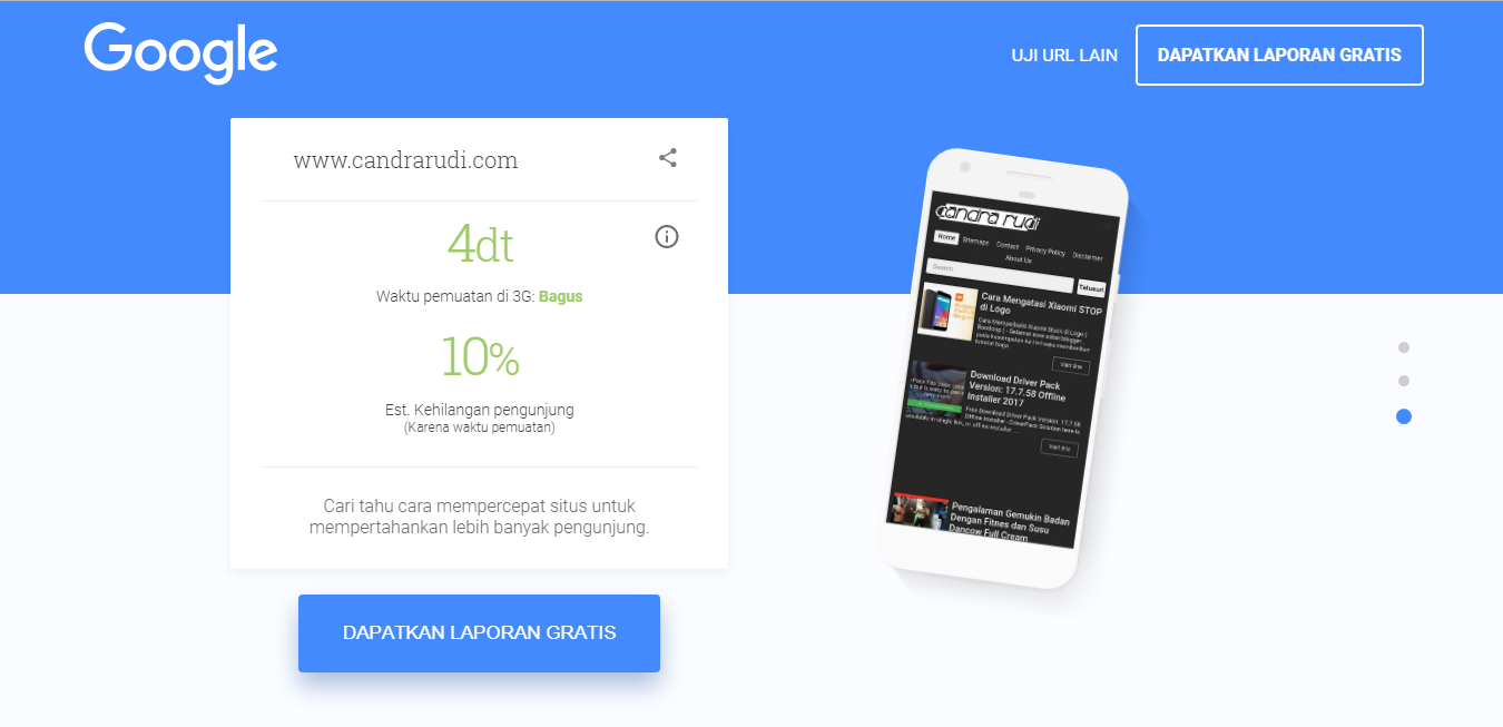 Test Your Mobile Speed From Google