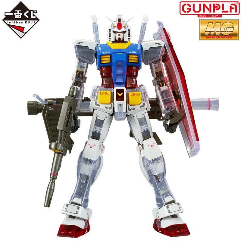 Bandai The Gundam Base Limited MG 1//100 RX-78-2 Gundam Version 3.0 Clear Color