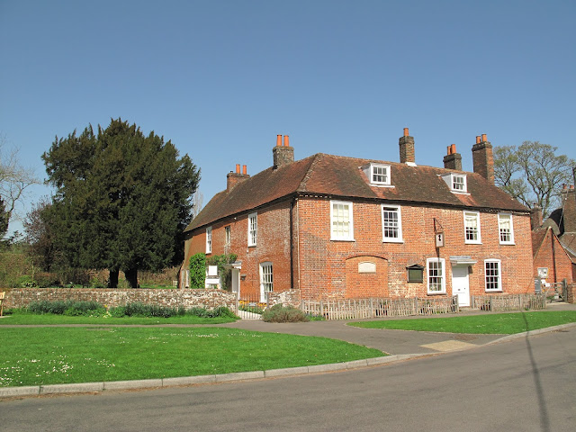Jane Austen's House Museum glowing in the spring sunshine!