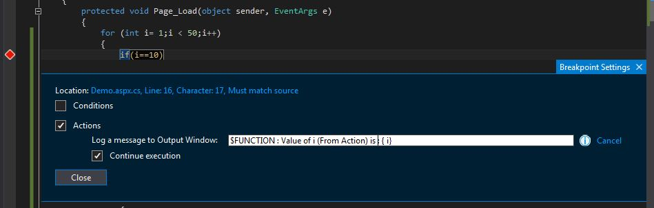 Breakpoint-Window-Specify-Action
