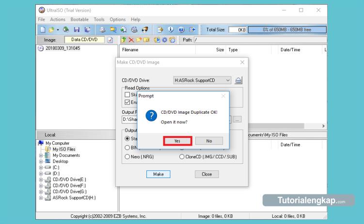 cara membuat file iso image dari dvd atau cd