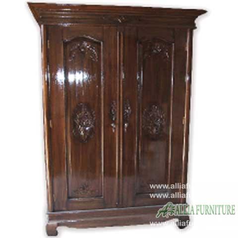 lemari pakaian kayu jati 2 pintu gereja