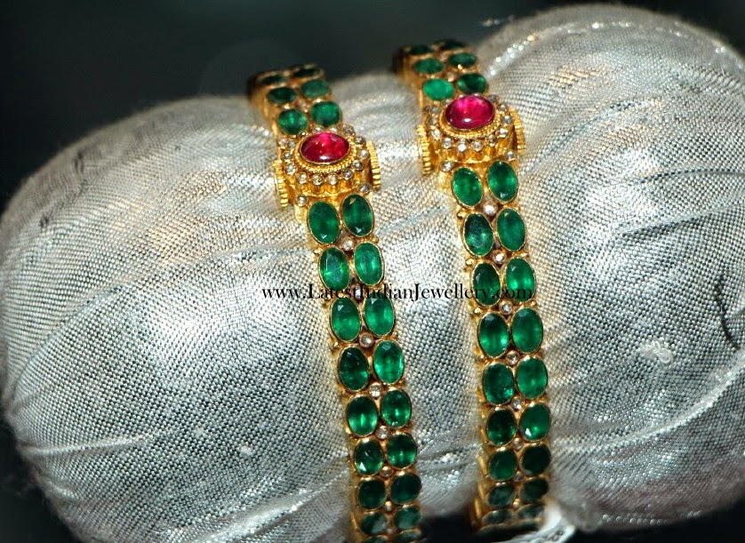 Traditional Colombian Emerald Bangles