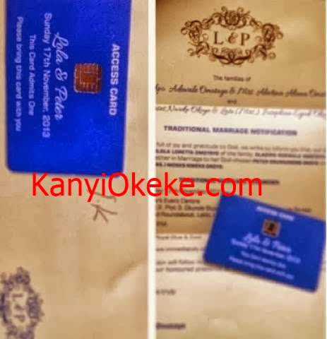 Check-Out Peter Psquare Okoye And Lola's Wedding IV + Access Cards 2