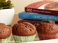 Muffins de chocolate con crema de cacao