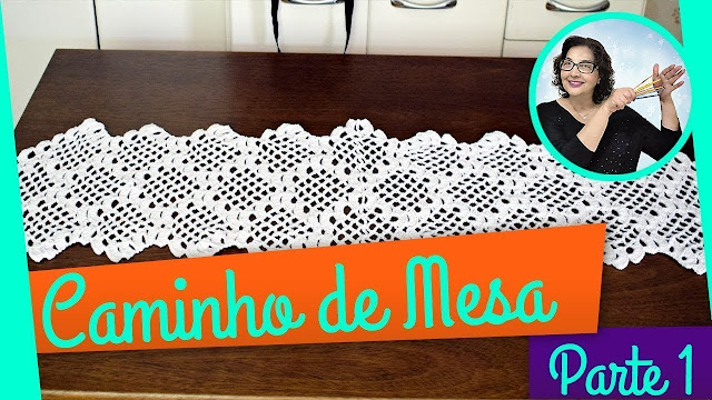 edinir croche ensina Caminho de Mesa em Crochê para o Dia dos Pais