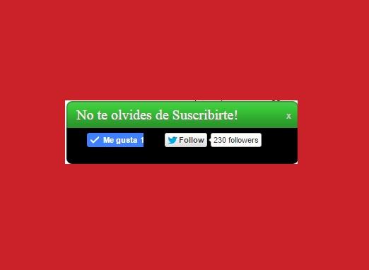 ¿Cómo insertar un widget estático de Facebook y Twitter?