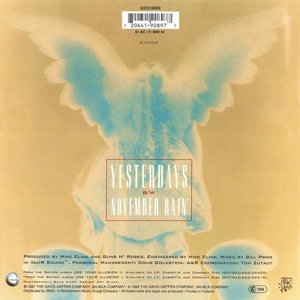 Guns N Roses November rain (Vinyl Records LP CD) on CDandLP