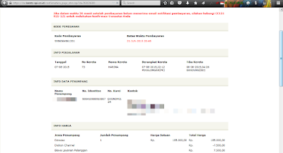 Info final pemesanan tiket kereta api online