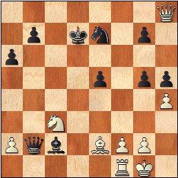 Partida de ajedrez Francino - García Sáinz, 1964Posición después de 23.0-0