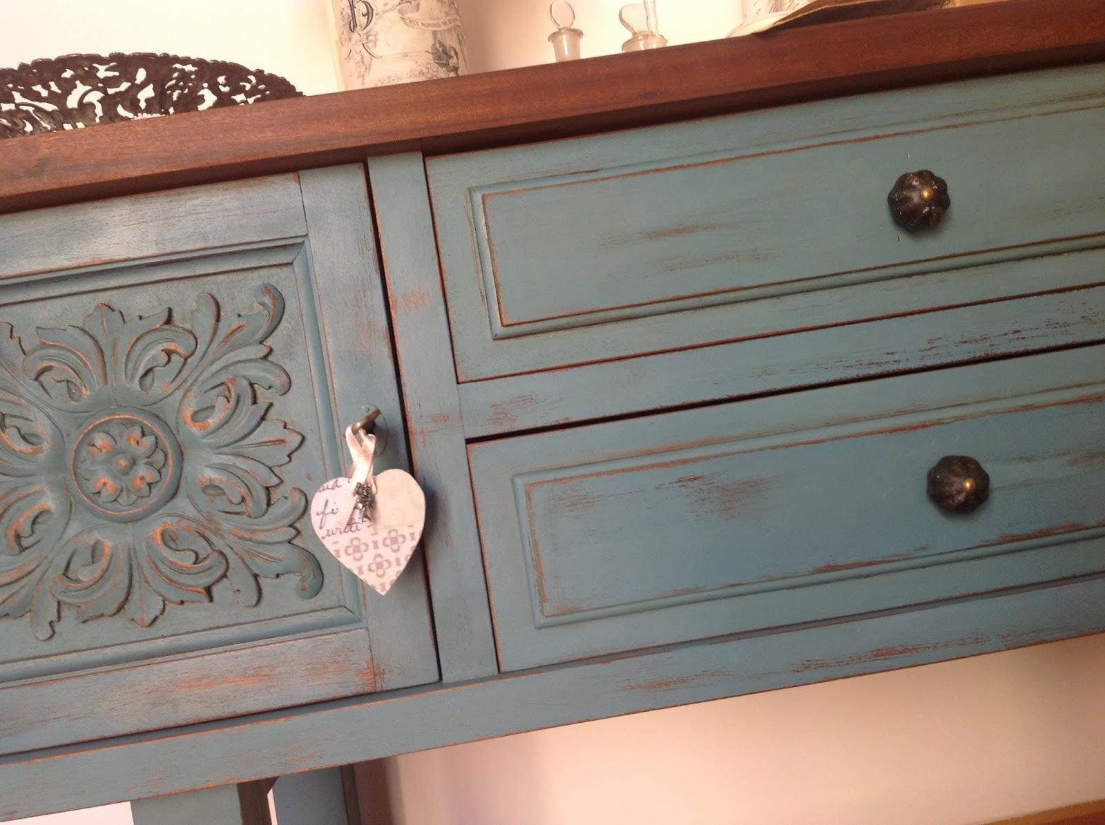 Decosurvintage mueble pintado y otras cositas - Muebles antiguos pintados de blanco ...