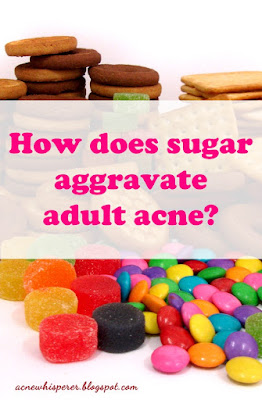 High glycemic foods can cause inflammation which can cause adult acne flareups.