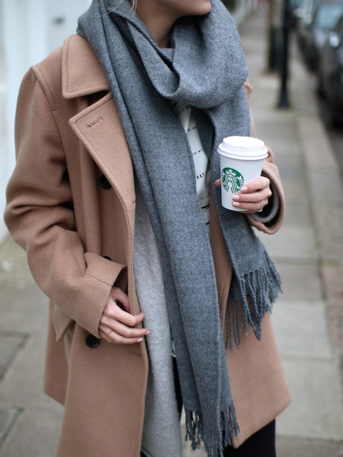 topshop grey scarf