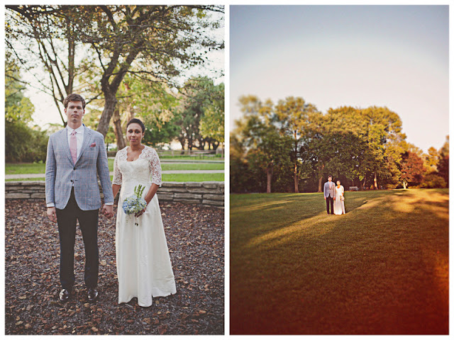 the bride's mother made her gown in this simple and lovely Chicago wedding | photo by the Dutchess and the Rabbit