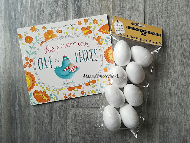 || Nos activités de Pâques - Décoration oeufs polystyrène - Le premier oeuf de Pâques