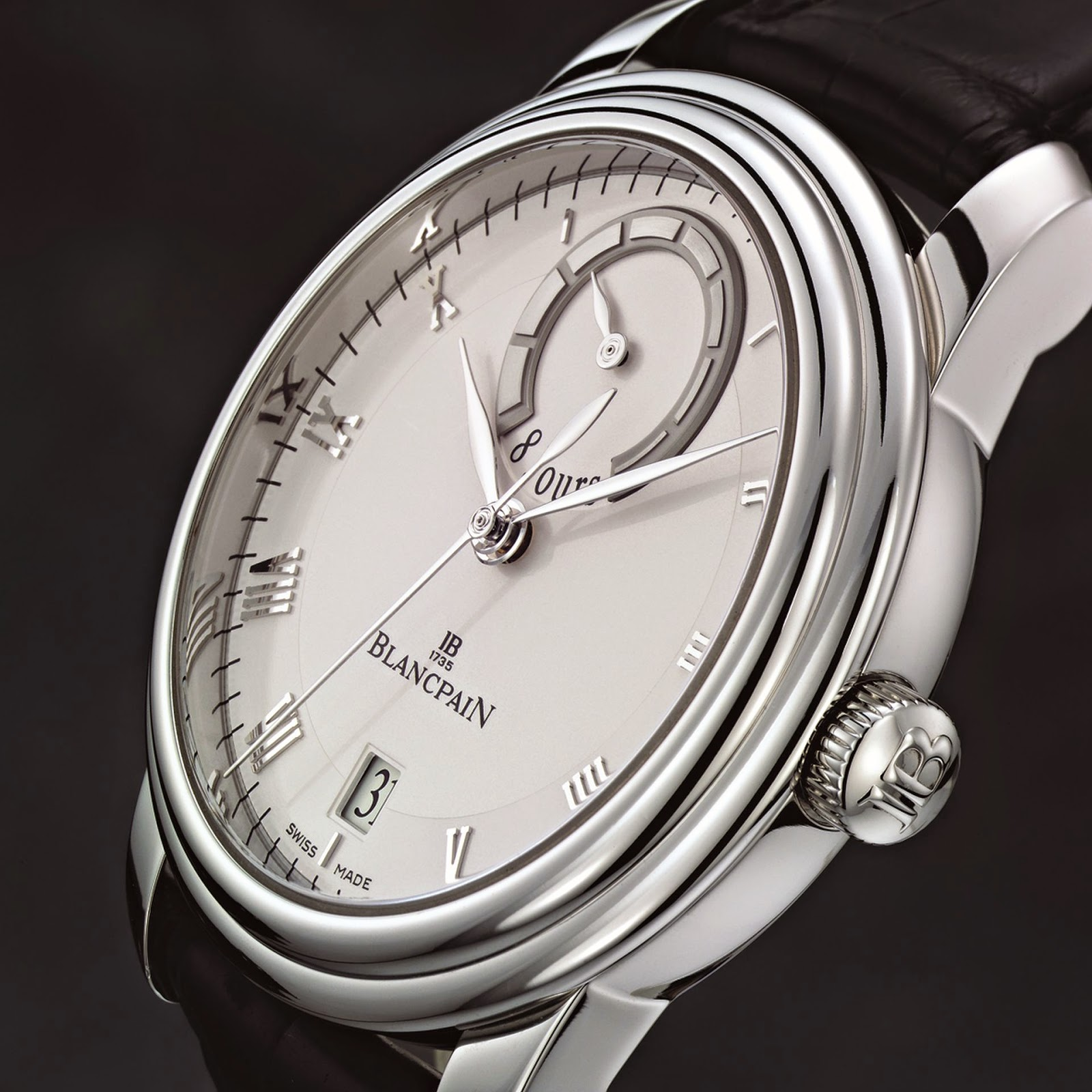 "BLANCPAIN - Le Brassus, ""8 Jours"" (8 Days) Platinum watch 8 days power reserve"