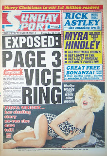 Front page of the Sunday Sport newspaper