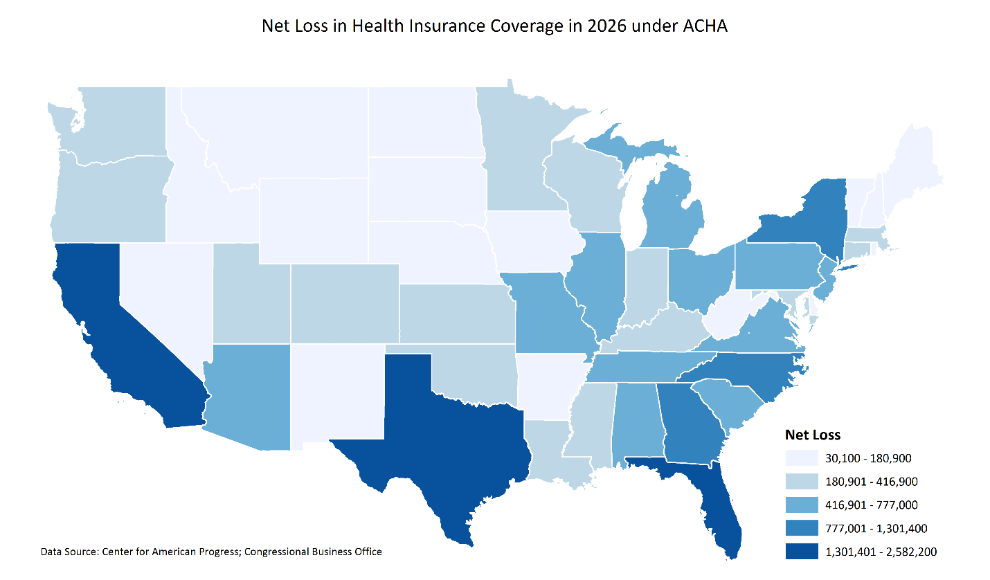 Gee E Cbo Derived Coverage Losses By State And Congressional District Center For American Progress May 25th 2017