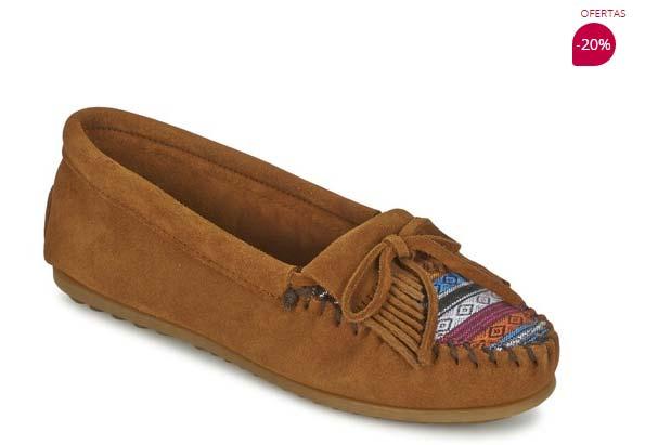 zapatos bajos minnetonka kilty