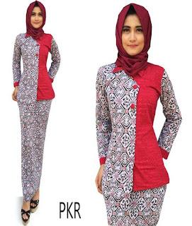 baju batik pramugari berjilbab