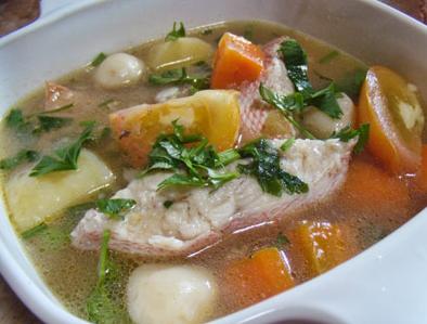 resep sup tahu ikan ekor kuning