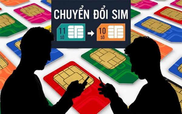 Lịch chuyển đổi SIM 11 thành 10 số của các nhà mạng