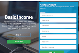 Basic Income : AirDrops Gratis 100 Token Senilai $100