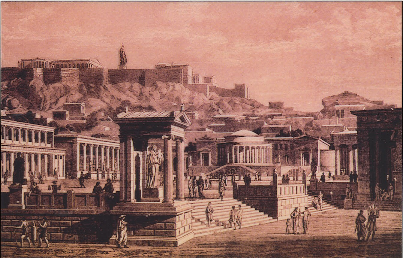 MY ARCHITECTURAL MOLESKINE®: THE AGORA OF ATHENS VS. THE ...