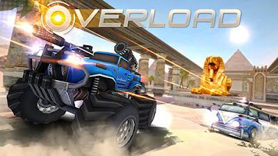 Download Overload: 3D MOBA car shooting MOD APK v1.0 Game Online Terbaru 2017 Gratis