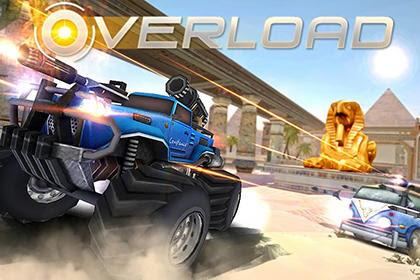 Download Overload: 3D MOBA car shooting MOD APK v1.0 Game Online Terbaru 2017 Gratis
