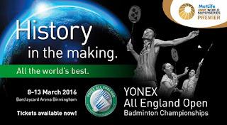 Live Skor Yonex All England Super Series Premier
