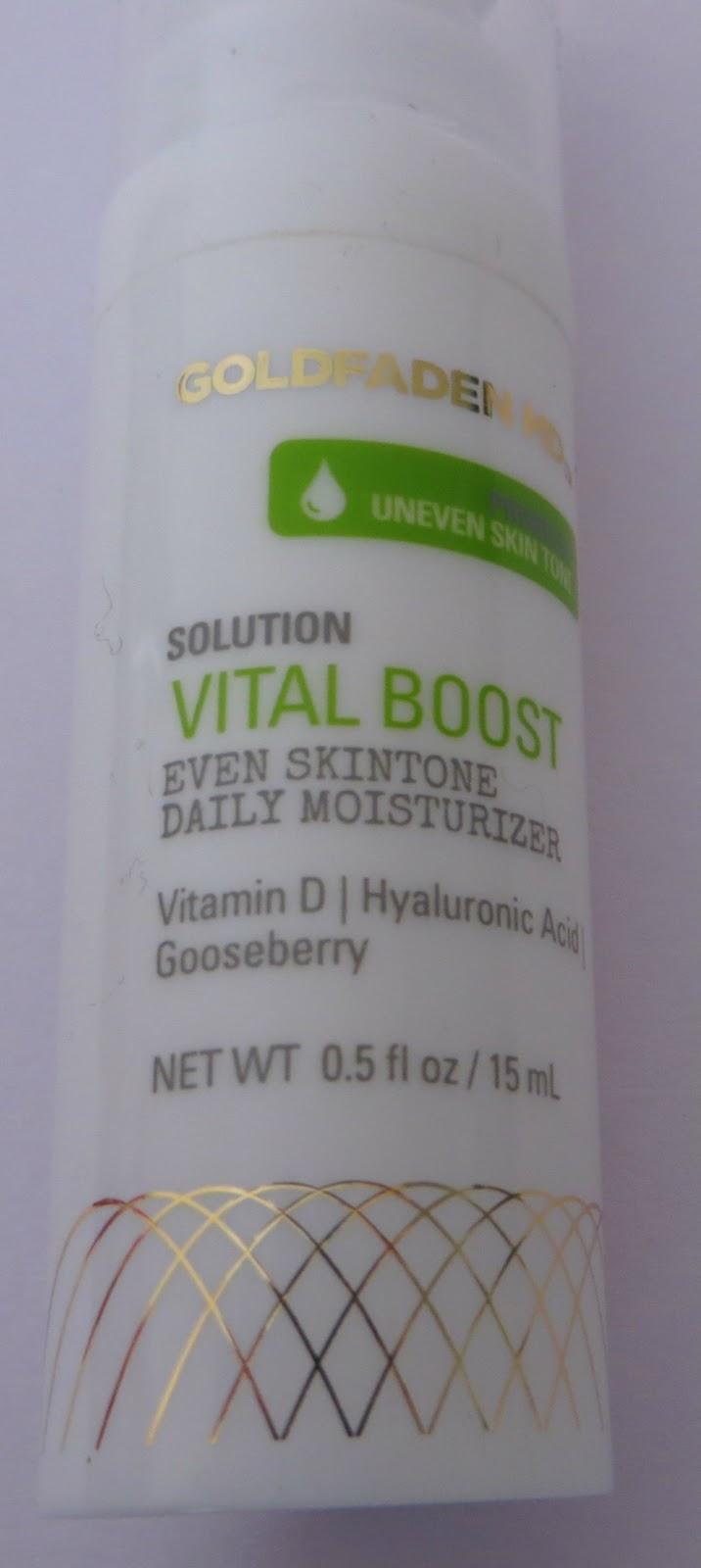 Goldfaden MD vital boost moisturiser