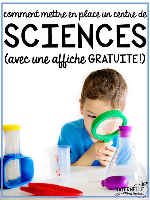 Tips and tricks for getting a science centre started in your French primary classroom. Plants are a great topic to start with, and this blog post has tons of ideas for getting your students exploring! There is also a FREE French poster about the parts of a scientist to build and display with your students.