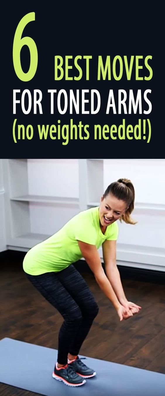 5-minute arm toning workout without weights