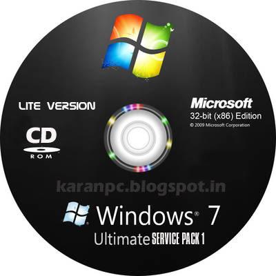 Windows 7 Ultimate Sp1 32 Bit LiteVersion (x86/ENG)  | 700 MB