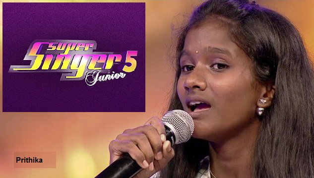 Prithika is the title winner of Super Singer Junior 5 Grand Finale on Vijay Television