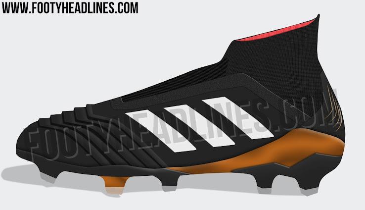 buy online f6299 7f435 Adidas Predator 18+ - Noir  Blanc  Solar Red  Tactile Gold Metallic