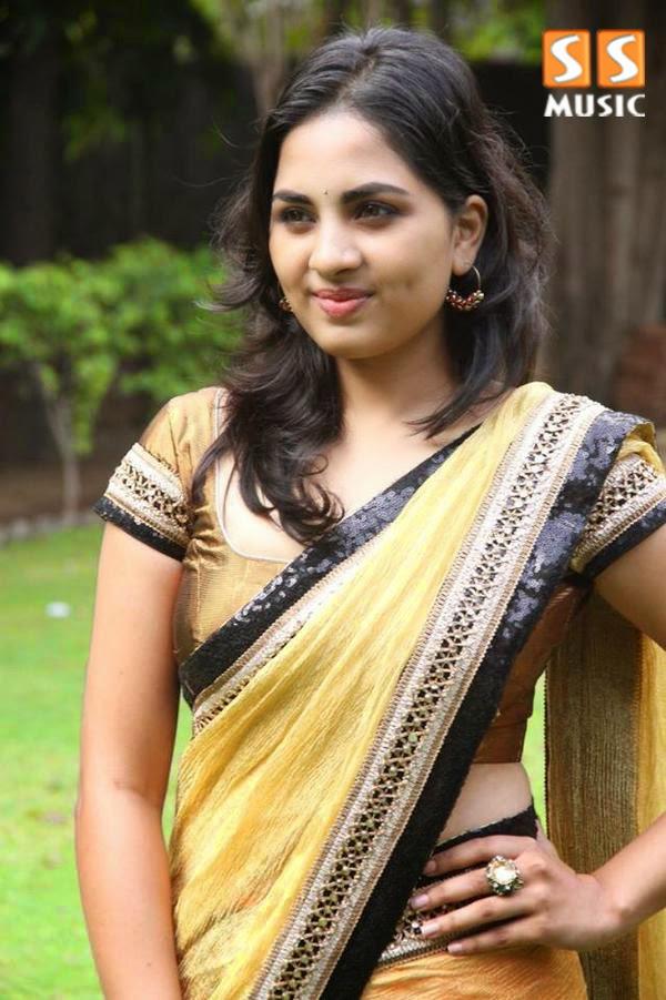 Megha & Darling fame Srushti Dange's Gorgeous Photoshoot in yellow saree actress desi hd #Srushti