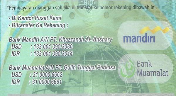 Prosedur pembayaran Umroh Khazzanah