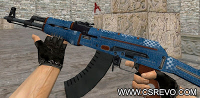 Skin AK47 - Gentleman HD - CS 1.6, ak47, ak-47