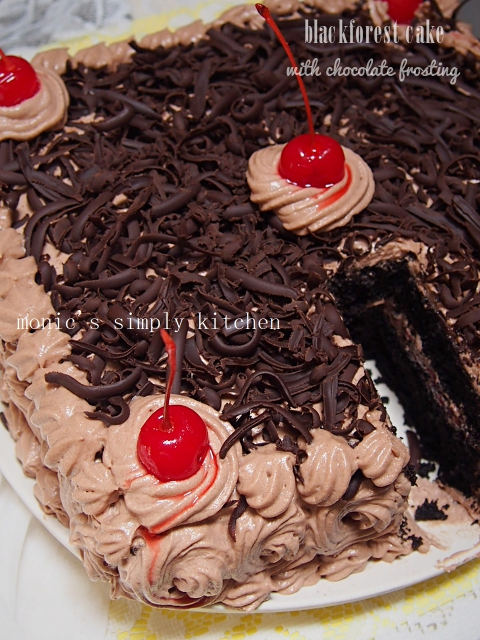 blackforest cake chocolate cream