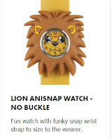 wicked Uncle lion anisnap watch no buckle