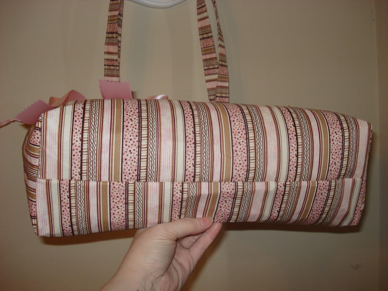 Kacie S Pink Brown Diaper Bag