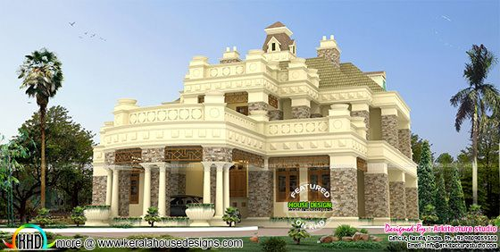 Decorative style Colonial home architecture